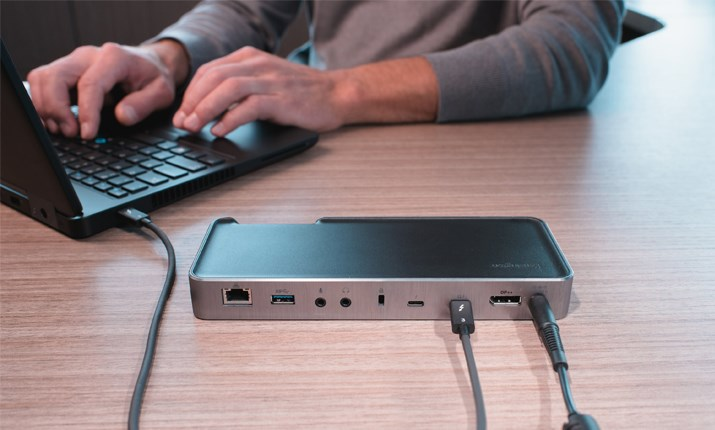 Hot-desking and Hoteling with the Kensington Thunderbolt 3 Universal Docking Station Blog Header Image